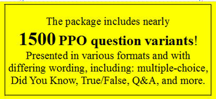 CA ppo license examination questions